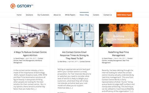 Screenshot of Blog qstory.co.uk - Call & Contact Centre Performance Management Blog | QStory - captured May 1, 2017