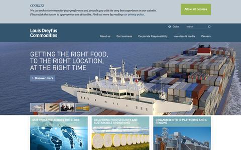 Screenshot of Home Page ldcom.com - Louis Dreyfus Commodities - captured Sept. 24, 2014