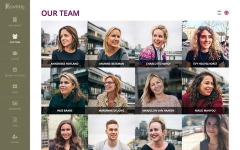 Screenshot of Team Page 2twintig.nl - Our team - 2twintig   PR- en adviesbureau in Rotterdam - captured Nov. 19, 2018