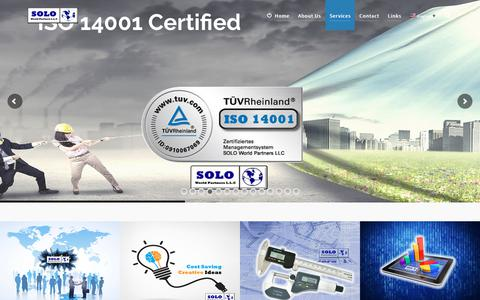 Screenshot of Services Page solowp.com - Services - SOLO World Partners - captured Oct. 1, 2018