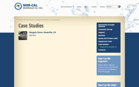 Screenshot of Case Studies Page ncbev.com - Case Studies - Nor-Cal Beverage - captured Feb. 15, 2016