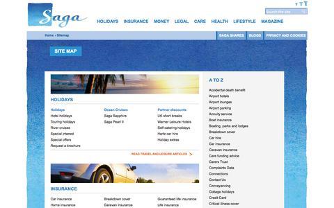 Site map - Saga