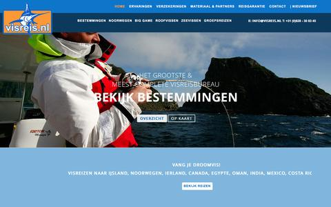 Screenshot of Home Page visreis.nl - Home - Visreis.nl - captured March 7, 2016
