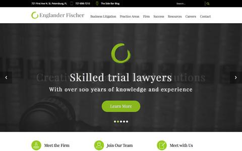 Screenshot of Home Page eflegal.com - Home Page | Englander Fischer - captured Sept. 19, 2015