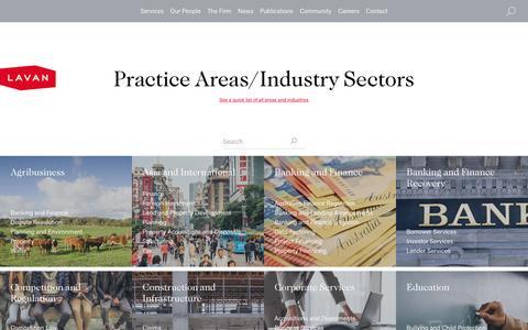 Screenshot of Services Page lavan.com.au - Law Firm Services | Practice Areas | Lavan - captured Dec. 31, 2016