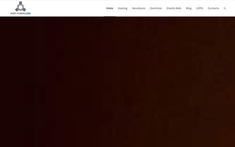 Screenshot of Home Page host-fusion.com - Host-Fusion.Com, Hosting WordPress seguro, Registro dominios - captured Jan. 17, 2016
