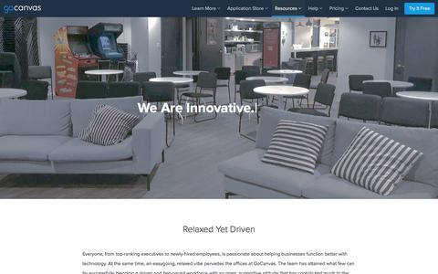 Screenshot of Jobs Page gocanvas.com - GoCanvas Job Openings - captured April 23, 2018