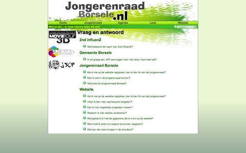 Screenshot of FAQ Page jongerenraadborsele.nl - Jongerenraad Borsele - captured Sept. 30, 2014