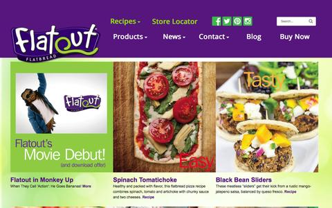 Screenshot of Home Page flatoutbread.com - Flatout Bread — Better Than Sliced Bread - captured Feb. 8, 2016