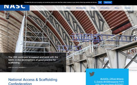 Screenshot of Home Page nasc.org.uk - Home - NASC - captured March 2, 2016