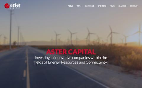 Screenshot of Home Page aster.com - Aster Capital - captured Jan. 23, 2015