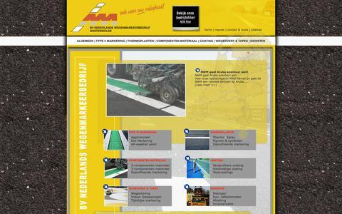 Screenshot of Home Page nederlands-wegenmarkeer.nl - NWM Wegmarkering - captured Oct. 6, 2014