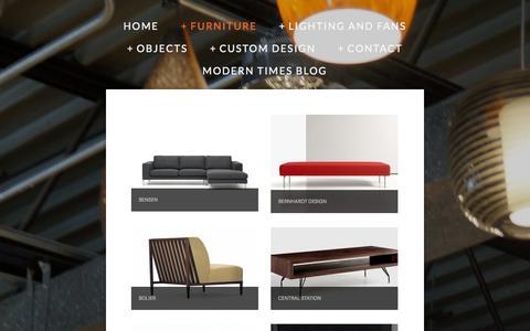 Screenshot of Menu Page trigmodern.com - Furniture — Trig Modern - captured Nov. 5, 2014