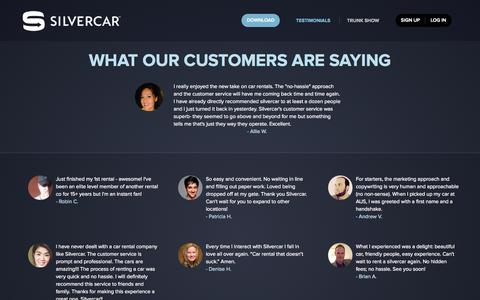 Silvercar Los Angeles >> Automotive Testimonials Pages | Website Inspiration and ...