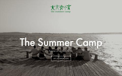 Screenshot of Home Page thesummercamp.org - The Summer Camp - captured July 13, 2018