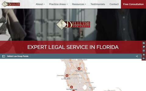 Screenshot of Home Page dellutrilawgroup.com - Expert Legal Service in Florida by Dellutri Law Group - captured April 8, 2018