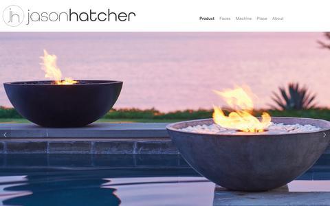 Screenshot of Home Page jhatcherphoto.com - Jason Hatcher Photography - captured Oct. 31, 2018