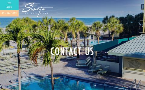 Screenshot of Contact Page sirata.com - Contact Information | Beachfront Hotel | Sirata Beach Resort - captured Oct. 20, 2018