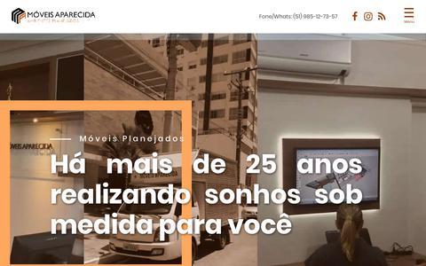 Screenshot of Home Page moveisaparecida.com.br - Móveis Aparecida - Fábrica de Móveis Sob medida e Planejados - captured Oct. 25, 2018