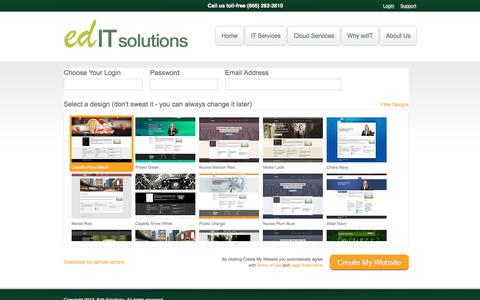 Screenshot of Signup Page editsolutions.net - Company — SiteKreator Sign Up - captured July 17, 2017