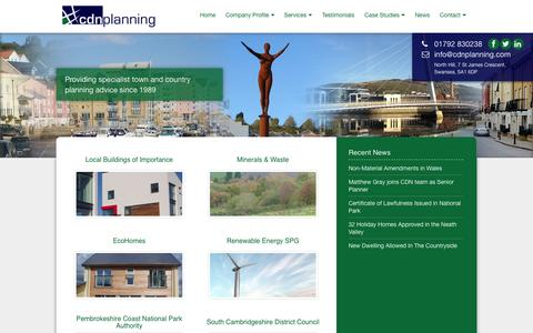 Screenshot of Case Studies Page cdnplanning.com - Case Studies | CDN Planning - captured Sept. 26, 2014