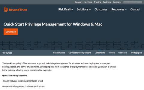 Screenshot of Team Page beyondtrust.com - Quick Start Privilege Management for Windows & Mac | BeyondTrust - captured Jan. 3, 2020