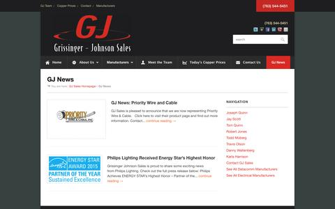 Screenshot of Blog gjsales.com - GJ Sales News | Industry Events | Grissinger Johnson Sales | - captured Feb. 2, 2016