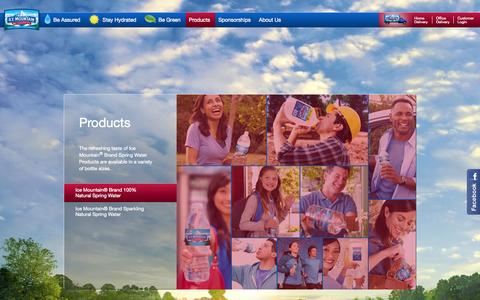Screenshot of Products Page icemountainwater.com - Ice Mountain® 100% Natural Spring Water - captured Oct. 31, 2014