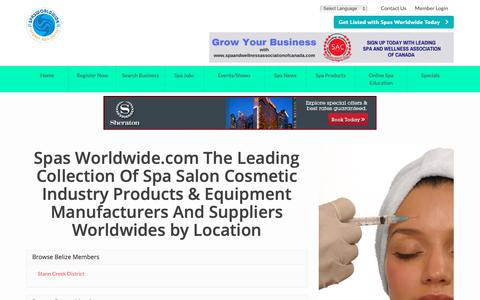 Screenshot of Locations Page spasworldwide.com - Find Spas Worldwide.com The Leading Collection Of Spa Salon Cosmetic Industry Products & Equipment Manufacturers And Suppliers Worldwides by Location - Spas Worldwide.com is a Collection of Spa, Salon, Medi & Cosmetic Clinics in Hotels and Resorts - captured Oct. 20, 2018