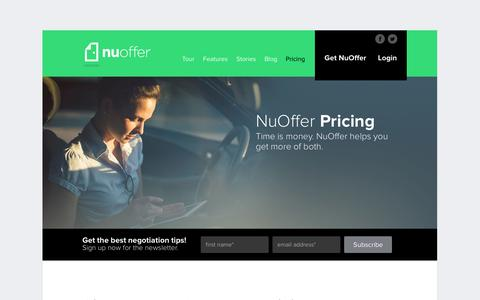 Screenshot of Pricing Page nuoffer.com - Pricing - NuOffer - captured Sept. 11, 2014