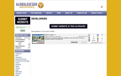 Screenshot of Developers Page globalasesor.com - Globalasesor - Web Directory - Category - Developers - captured Oct. 31, 2014