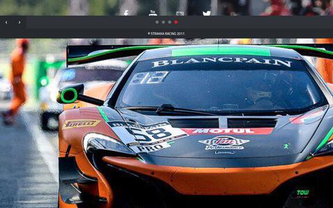 Screenshot of Home Page strakkaracing.com - Strakka Racing | Blancpain GT Racing Team - captured June 17, 2017