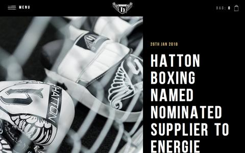 Screenshot of Press Page hattonboxing.com - News | TeamHatton.com - captured July 16, 2018