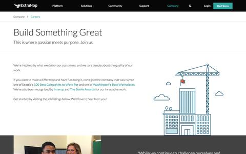 IT, Engineering, Marketing & Sales Jobs at ExtraHop | Seattle, San Francisco, New York | ExtraHop