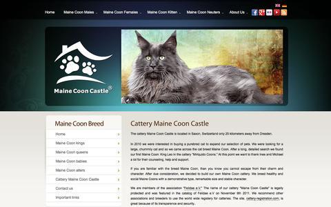 Screenshot of About Page maine-coon-castle.de - about the maine coon breed maine coon castle in saxony - captured Nov. 19, 2017