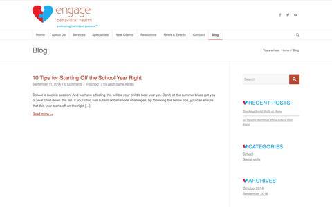 Blog - Engage Behavioral Health
