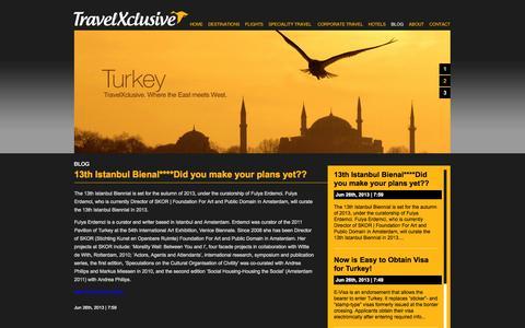 Screenshot of Blog travelxclusive.com - TravelXclusive - Blog - captured Oct. 7, 2014