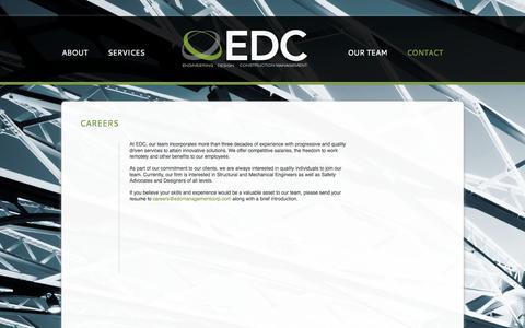 Screenshot of Jobs Page edcmanagementcorp.com - CAREERS - captured Sept. 26, 2014