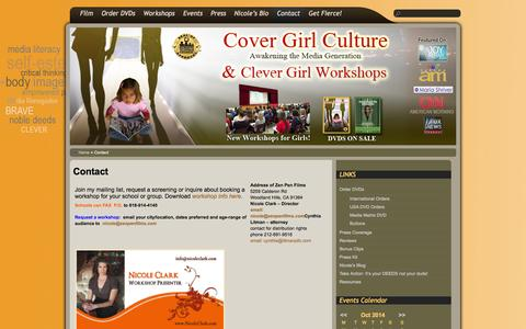 Screenshot of Contact Page covergirlculture.com - Contact |  Cover Girl Culture - captured Oct. 27, 2014