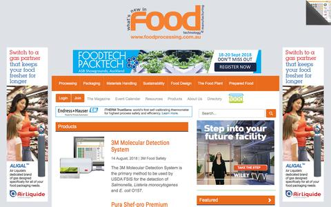 Screenshot of Products Page foodprocessing.com.au - Product Reviews  :: FoodProcessing - captured Aug. 19, 2018
