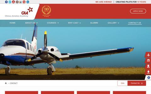 Screenshot of Contact Page caaindia.com - Contact – CAA India - captured Sept. 27, 2018