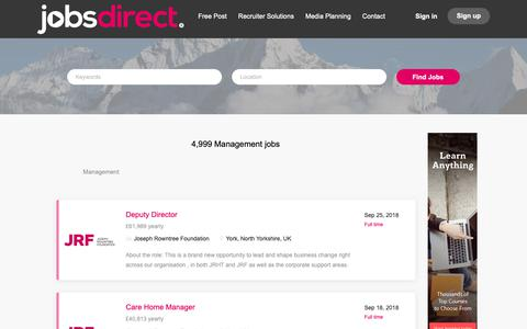 Screenshot of Team Page jobsdirect.co.uk - Management | Jobs Direct - captured Oct. 14, 2018