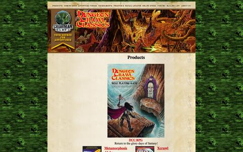 Screenshot of Products Page goodman-games.com - Goodman Games - captured Dec. 12, 2015