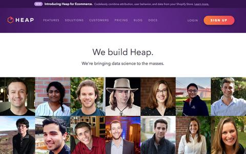 About - Heap | Mobile and Web Analytics