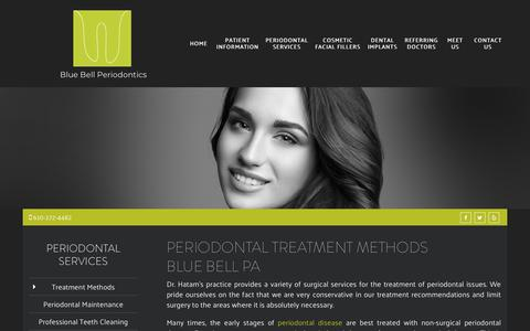 Screenshot of Services Page bluebellperio.com - Periodontal Treatment Methods Blue Bell PA | Treat Gum Disease - captured Oct. 6, 2018
