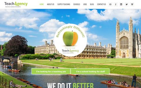 Screenshot of Home Page teachagency.co.uk - Supply teaching agency | Teaching jobs | Education agency - captured Aug. 12, 2016