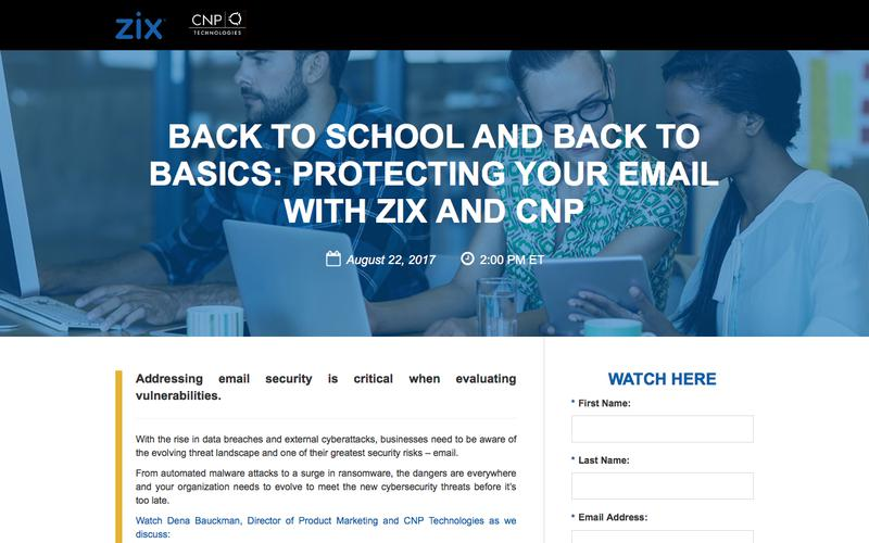 Webinar | Protecting your Email with Zix