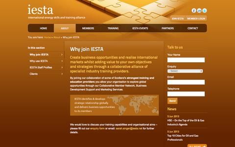 Screenshot of Signup Page iesta.co.uk - Why join IESTA › IESTA - captured Oct. 6, 2014