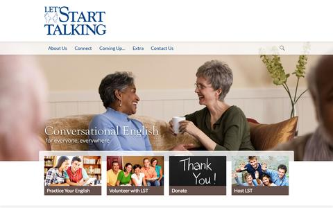 Screenshot of Home Page lst.org - Let's Start Talking Ministry | Welcome! - captured Oct. 2, 2014