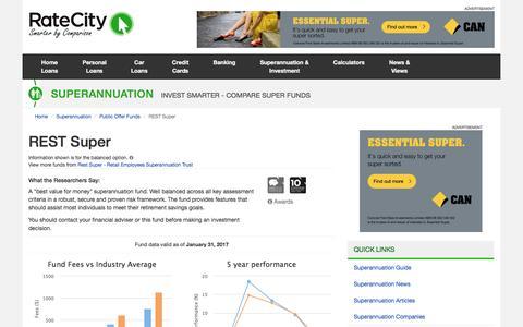 REST Super Superannuation Fund | RateCity